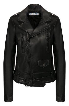 Женская кожаная куртка OFF-WHITE черного цвета, арт. 0WJG002T20LEA0011076 | Фото 1