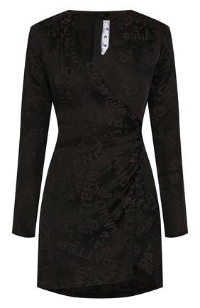 Женское мини-платье OFF-WHITE черного цвета, арт. 0WDB176T20FAB0011008 | Фото 1