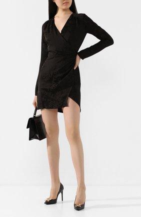 Женское мини-платье OFF-WHITE черного цвета, арт. 0WDB176T20FAB0011008 | Фото 2
