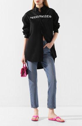 Женские кожаные шлепанцы round BALENCIAGA розового цвета, арт. 613845/WBAE1 | Фото 2