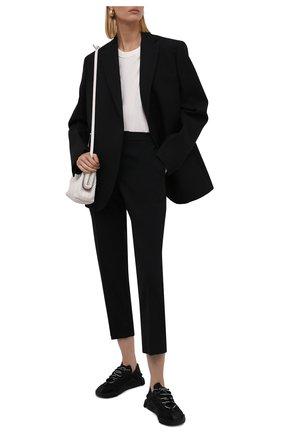 Женские комбинированные кроссовки ns1 DOLCE & GABBANA черного цвета, арт. CK1754/AX372 | Фото 2 (Материал внутренний: Текстиль, Натуральная кожа; Подошва: Платформа; Материал внешний: Текстиль)