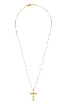 Женская кулон на цепочке CHLOÉ золотого цвета, арт. CHC20SF02TCB7 | Фото 1 (Материал: Металл)