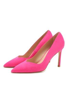 Женская замшевые туфли STUART WEITZMAN фуксия цвета, арт. S5252 | Фото 1