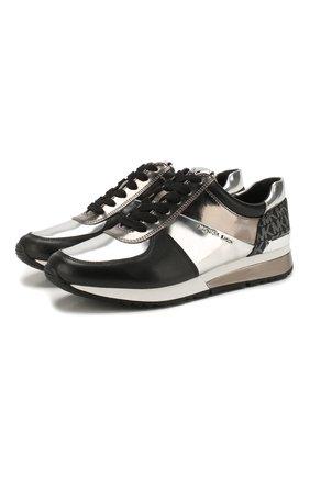 Женские комбинированные кроссовки allie MICHAEL MICHAEL KORS серебряного цвета, арт. 43R0ALFS1M | Фото 1