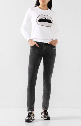 Женские комбинированные кроссовки allie MICHAEL MICHAEL KORS серебряного цвета, арт. 43R0ALFS1M | Фото 2