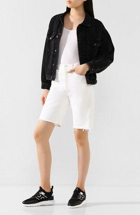 Женские текстильные кроссовки HOGAN черного цвета, арт. HXW3710CR90NHJ | Фото 2