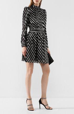 Женские замшевые босоножки STUART WEITZMAN черного цвета, арт. S6155 | Фото 2