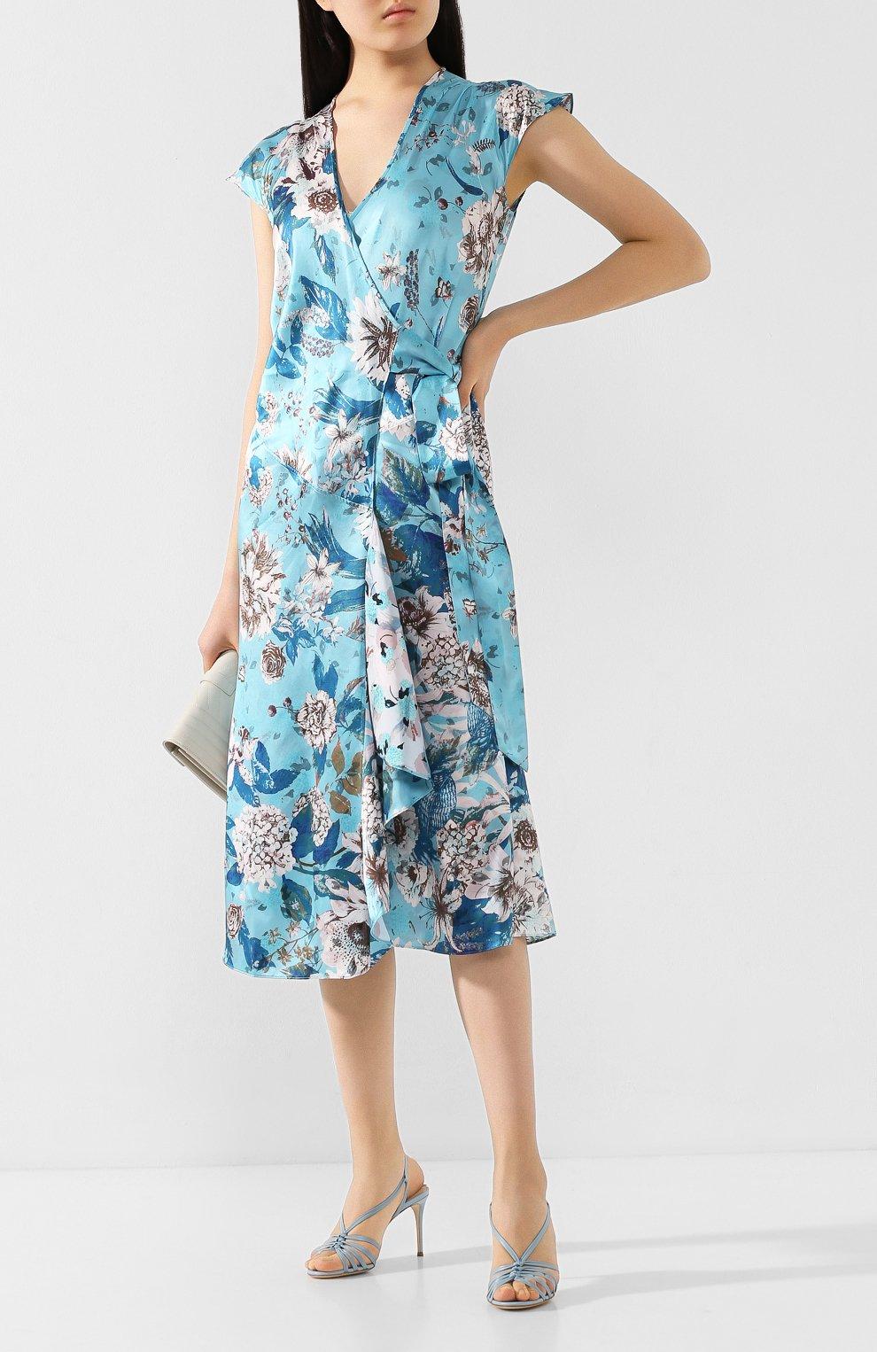 Женские кожаные босоножки CASADEI голубого цвета, арт. 1L538P0801MNRCA5304 | Фото 2