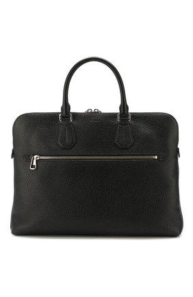 Мужская кожаная сумка для ноутбука BALLY черного цвета, арт. CURIUS/00 | Фото 1