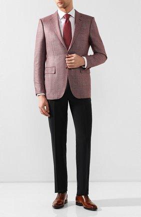 Мужские кожаные оксфорды W.GIBBS светло-коричневого цвета, арт. 5689003/1655   Фото 2