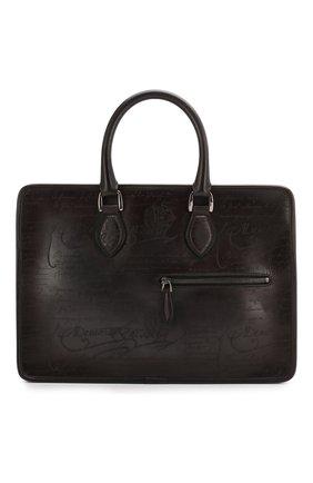 Мужской кожаный портфель BERLUTI коричневого цвета, арт. M197167   Фото 1