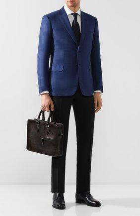 Мужской кожаный портфель BERLUTI коричневого цвета, арт. M197167   Фото 2