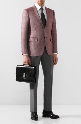 Мужской кожаный портфель BERLUTI черного цвета, арт. M204271 | Фото 2