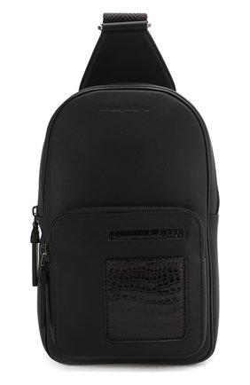 Мужской кожаный рюкзак ERMENEGILDO ZEGNA черного цвета, арт. C1557E-LHAPS/AMIS   Фото 1