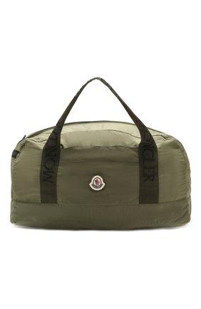 Мужская текстильная дорожная сумка nivelle MONCLER хаки цвета, арт. F1-09A-7A700-00-02SCN | Фото 1