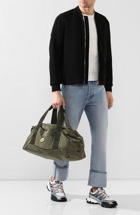 Мужская текстильная дорожная сумка nivelle MONCLER хаки цвета, арт. F1-09A-7A700-00-02SCN | Фото 2