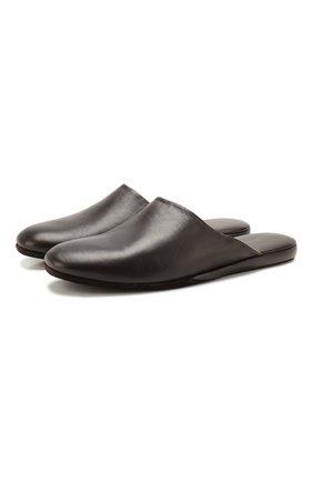 Мужского кожаные домашние туфли SANTONI темно-коричневого цвета, арт. PMXXA1644XXX1PNA050 | Фото 1