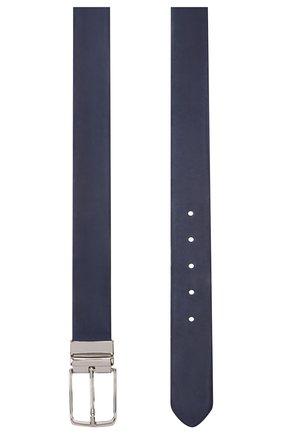 Мужской кожаный ремень PAUL&SHARK темно-синего цвета, арт. E20P6017 | Фото 2