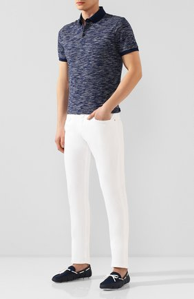 Мужские текстильные мокасины SWIMS синего цвета, арт. 030 | Фото 2