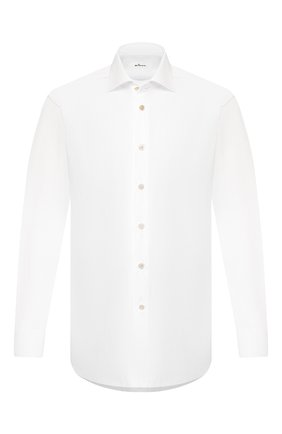 Мужская хлопковая сорочка KITON белого цвета, арт. UCIH0660101 | Фото 1