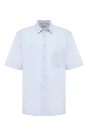 Мужская хлопковая рубашка RAF SIMONS голубого цвета, арт. 201-295-10010 | Фото 1