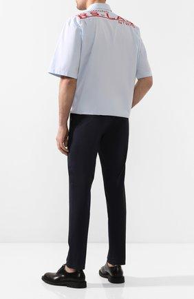 Мужская хлопковая рубашка RAF SIMONS голубого цвета, арт. 201-295-10010 | Фото 2