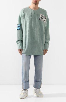 Мужской свитер RAF SIMONS голубого цвета, арт. 201-834-50010 | Фото 2