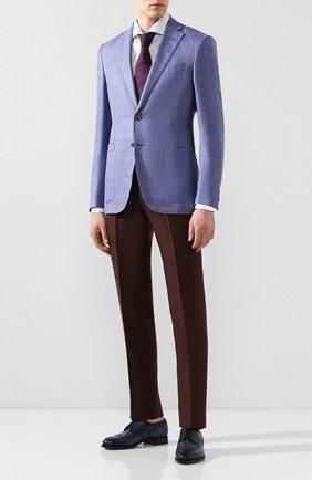 Мужской пиджак из смеси шерсти и шелка LUCIANO BARBERA синего цвета, арт. 111F25/16013 | Фото 2