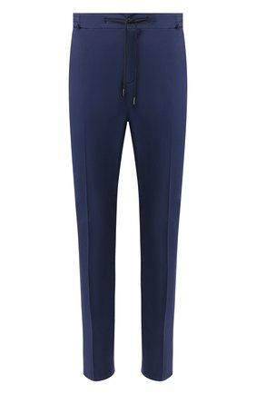 Мужской хлопковые брюки  BERWICH синего цвета, арт. SPIAGGIA/TS4842X | Фото 1