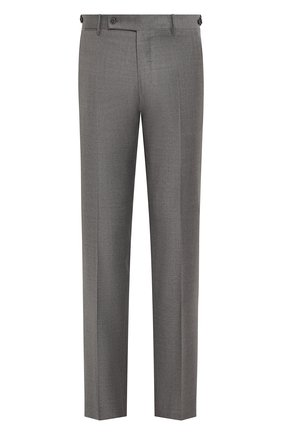 Мужские шерстяные брюки ANDREA CAMPAGNA серого цвета, арт. SC/1 FIBB/VB5478 | Фото 1 (Материал внешний: Шерсть; Длина (брюки, джинсы): Стандартные; Случай: Формальный; Стили: Классический)