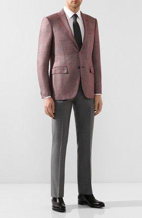 Мужские шерстяные брюки ANDREA CAMPAGNA серого цвета, арт. SC/1 FIBB/VB5478 | Фото 2 (Материал внешний: Шерсть; Длина (брюки, джинсы): Стандартные; Случай: Формальный; Стили: Классический)