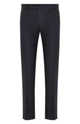 Мужские шерстяные брюки ANDREA CAMPAGNA темно-синего цвета, арт. SC/1 FIBB/VB5478 | Фото 1 (Материал внешний: Шерсть; Длина (брюки, джинсы): Стандартные; Случай: Формальный; Стили: Классический)