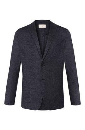Мужской пиджак из смеси льна и хлопка ALTEA синего цвета, арт. 2052303 | Фото 1