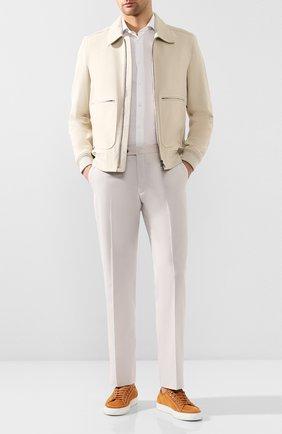 Мужская рубашка из смеси хлопка и льна VAN LAACK белого цвета, арт. RAND0-S-SFN/150051   Фото 2