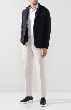 Мужская рубашка из смеси хлопка и льна VAN LAACK голубого цвета, арт. RAND0-S-SFN/150051 | Фото 2