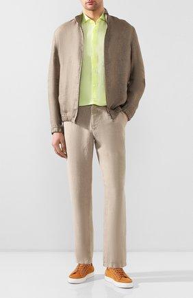 Мужская льняная рубашка VAN LAACK желтого цвета, арт. LAND0S1-SFW/171418 | Фото 2
