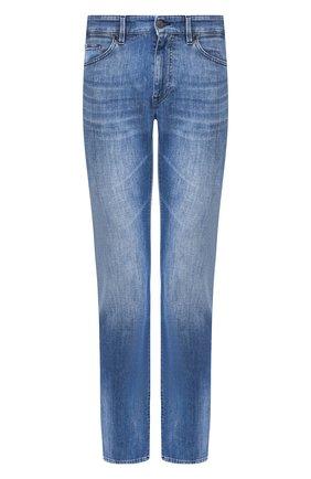 Мужские джинсы BOSS синего цвета, арт. 50426481   Фото 1