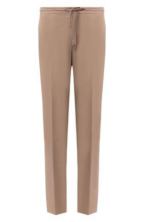 Мужские хлопковые брюки ERMENEGILDO ZEGNA бежевого цвета, арт. UUI16/TT13 | Фото 1