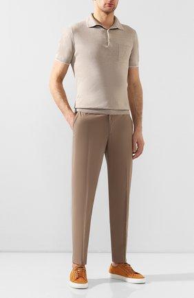 Мужские хлопковые брюки ERMENEGILDO ZEGNA бежевого цвета, арт. UUI16/TT13 | Фото 2