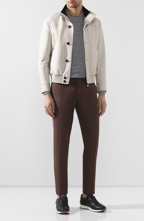 Мужские хлопковые брюки ERMENEGILDO ZEGNA коричневого цвета, арт. UUI16/TT13 | Фото 2