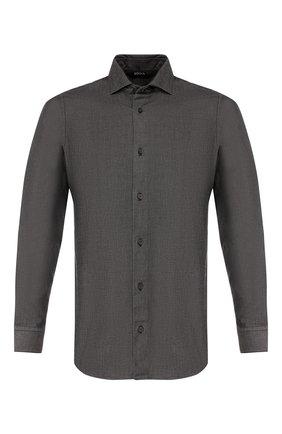 Мужская хлопковая рубашка Z ZEGNA серого цвета, арт. VU212/ZCSF1 | Фото 1