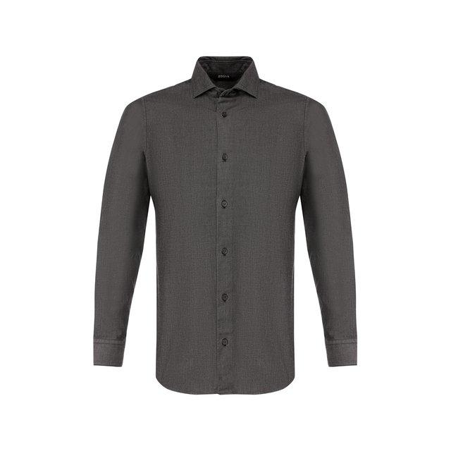 Хлопковая рубашка Z Zegna — Хлопковая рубашка