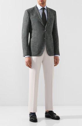 Пиджак из смеси шерсти и хлопка   Фото №2