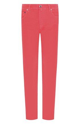 Мужской хлопковые брюки VILEBREQUIN розового цвета, арт. VBMP0001-02016-S | Фото 1