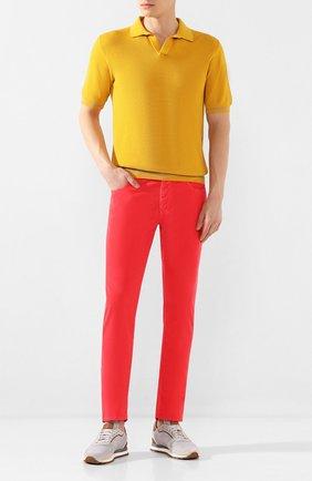Мужской хлопковые брюки VILEBREQUIN розового цвета, арт. VBMP0001-02016-S | Фото 2