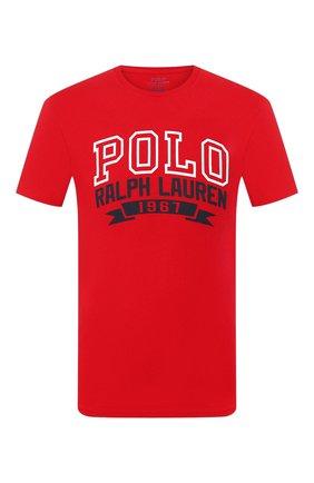 Мужская хлопковая футболка POLO RALPH LAUREN красного цвета, арт. 710799353 | Фото 1
