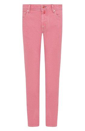 Мужские джинсы JACOB COHEN светло-розового цвета, арт. J622 C0MF 01861-W1/53 | Фото 1