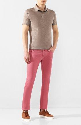 Мужские джинсы JACOB COHEN светло-розового цвета, арт. J622 C0MF 01861-W1/53 | Фото 2