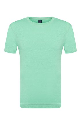 Мужская льняная футболка FEDELI светло-зеленого цвета, арт. 3UED0151 | Фото 1
