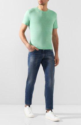 Мужская льняная футболка FEDELI светло-зеленого цвета, арт. 3UED0151 | Фото 2